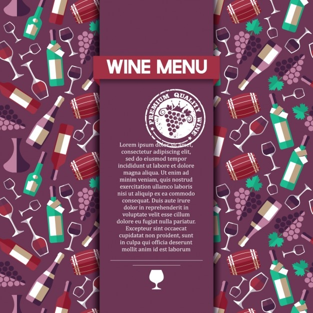 wine menu card template vector free download. Black Bedroom Furniture Sets. Home Design Ideas