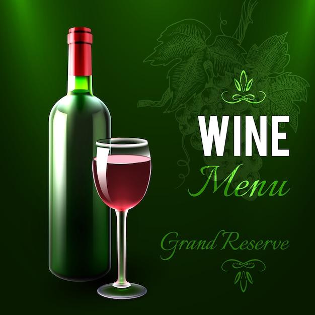 wine menu template vector free download
