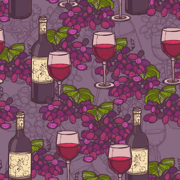 Wine pattern design