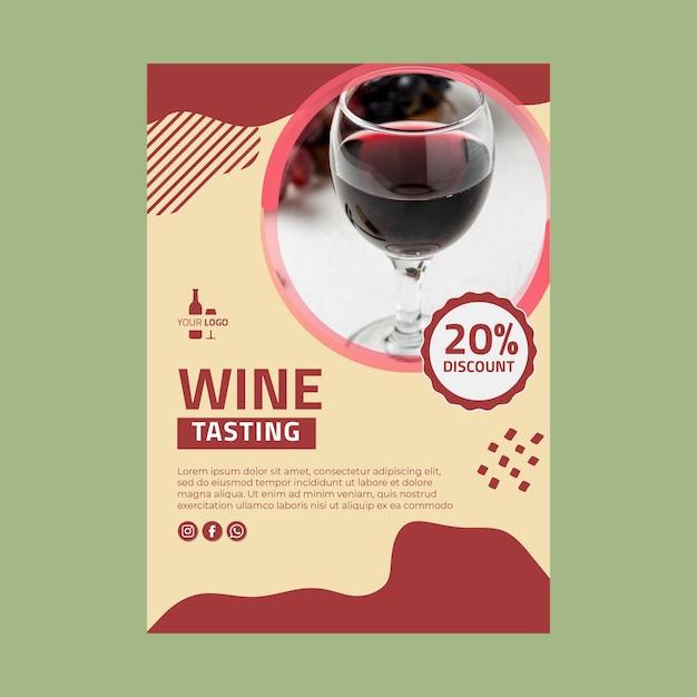 Modello di poster di vino Vettore gratuito
