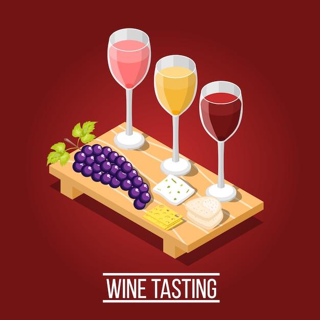 Wine tasting background Free Vector