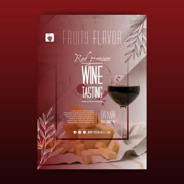 Modello di volantino per degustazione di vini Vettore gratuito