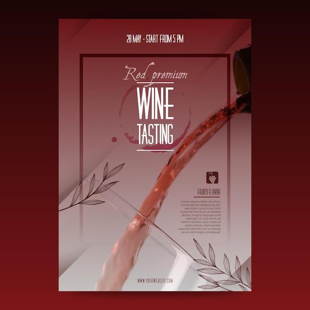 ワインテイスティングテンプレートポスター Premiumベクター