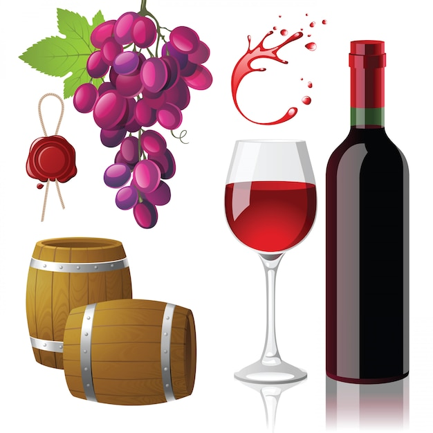 Wine Premium Vector