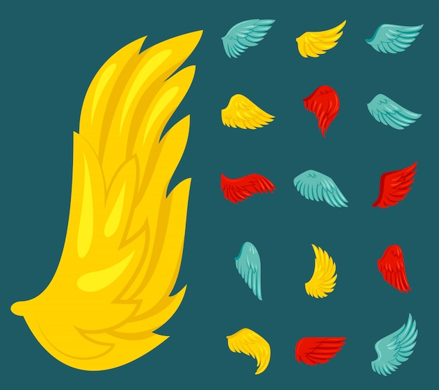 Wing icon flat Free Vector