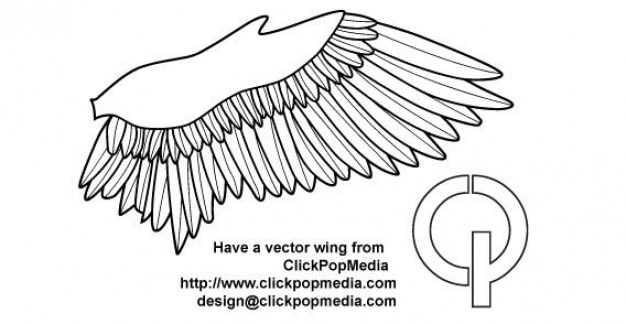 wing outline vector free download