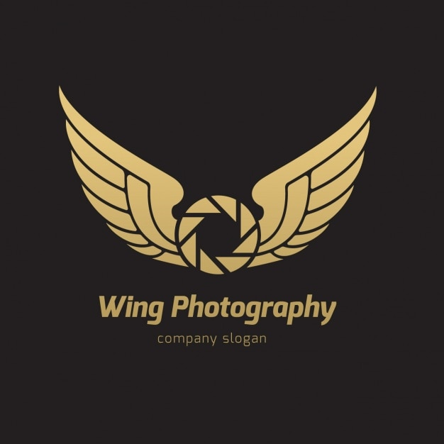 wings logo template vector free download