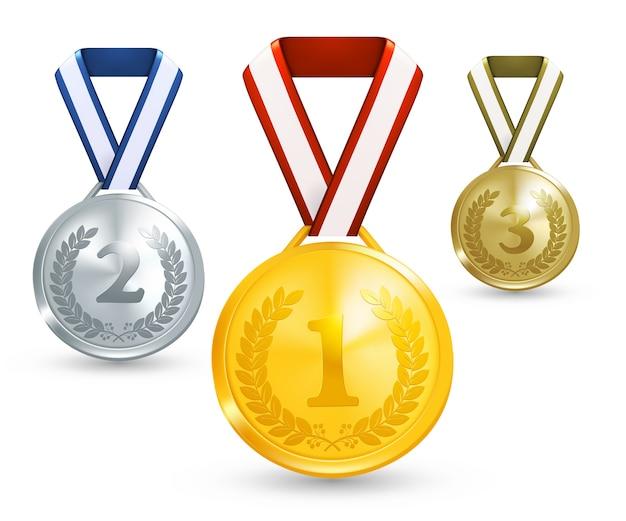 우승자 메달 그림 프리미엄 벡터