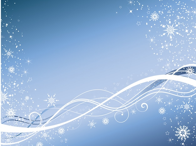 Winter abstract background Free Vector