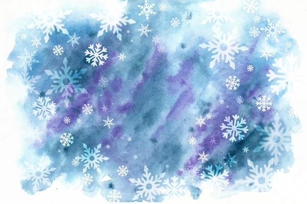 Зимний фон в стиле акварели Premium векторы