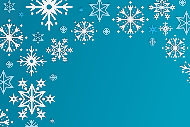 Winter background in paper style Free Vector