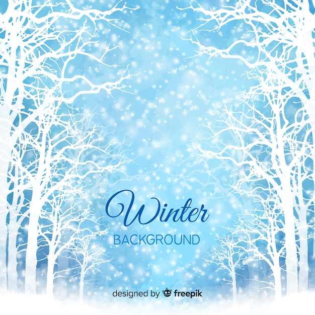 Winter background Free Vector