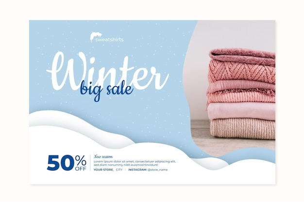 Winter banner concept Free Vector