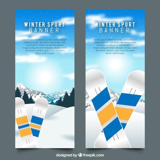 Winter banner Free Vector