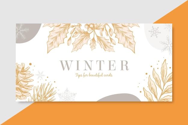Modello di intestazione del blog invernale Vettore gratuito