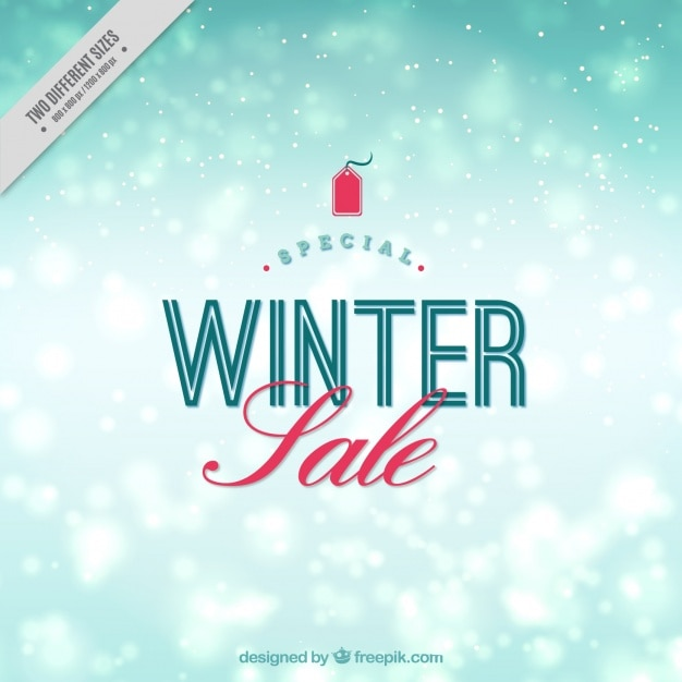 Winter bokeh snow sale background
