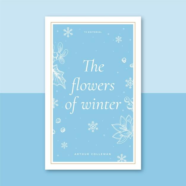 Modello di copertina del libro invernale illustrato Vettore gratuito