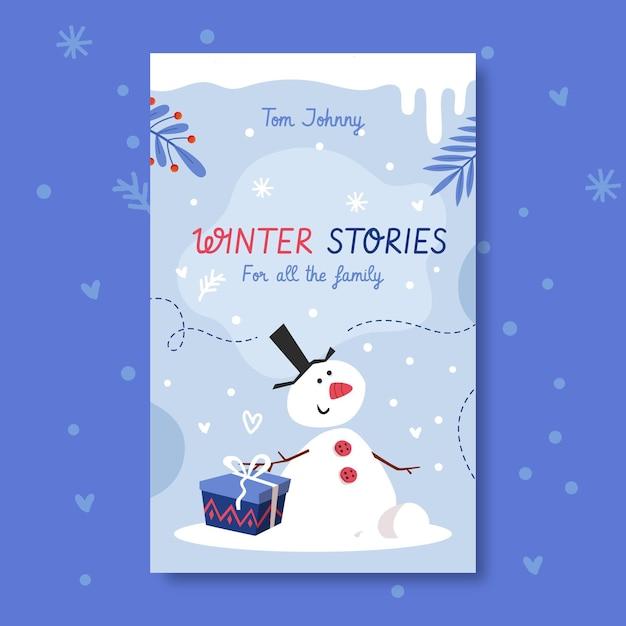 Modello di copertina del libro invernale Vettore gratuito