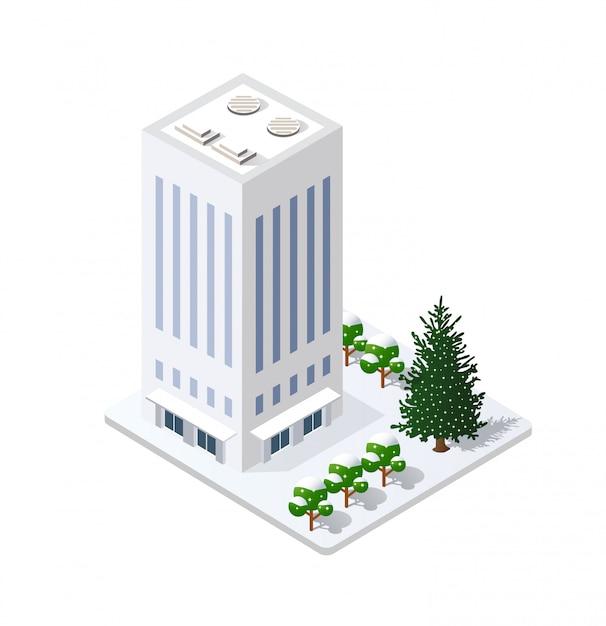 Winter christmas landscape snow covered Premium Vector