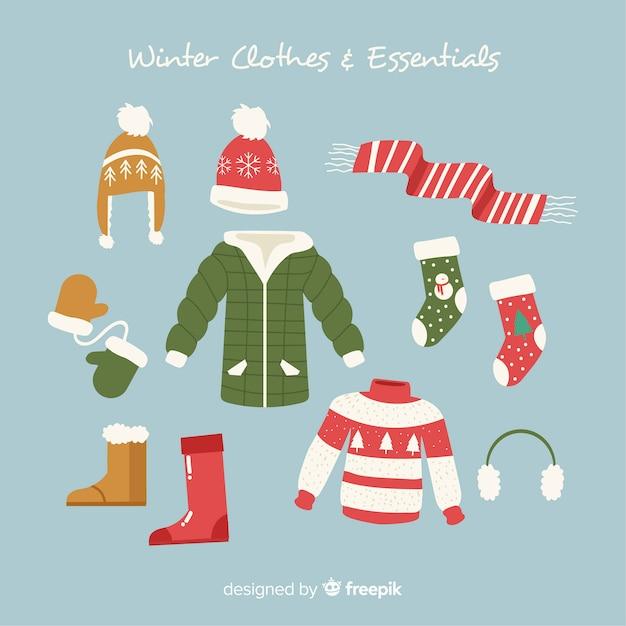 Abiti invernali e accessori Vettore gratuito