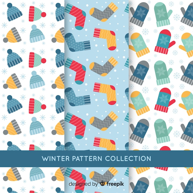 冬の服のパターン 無料ベクター