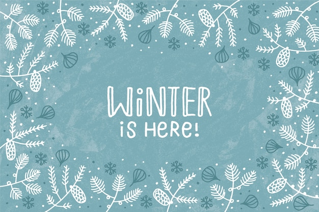 Winter concept in hand drawn Free Vector