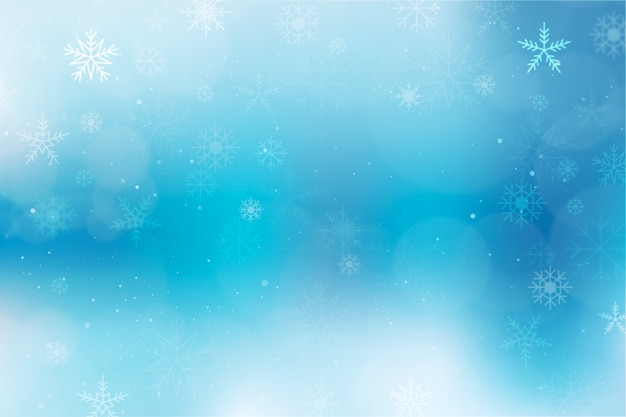 Winter concept with blurred background Free Vector