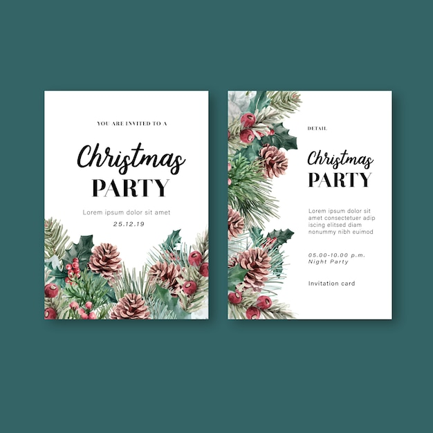 Winter floral blooming elegant wedding invitation card for decoration vintage beautiful Free Vector