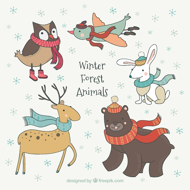 Animal vectors photos and psd files free download - Animali in inverno clipart ...