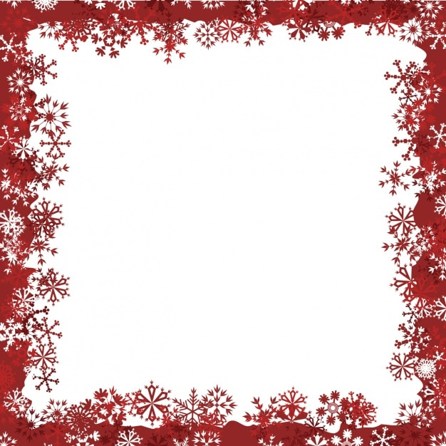 Winter frame design Vector | Free Download