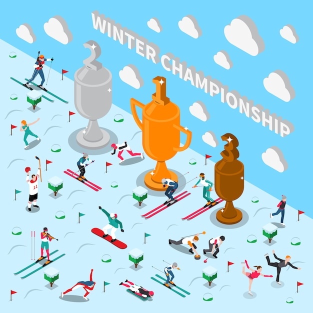 Winter games championship Free Vector