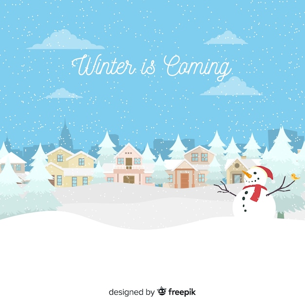 Winter is coming background Free Vector