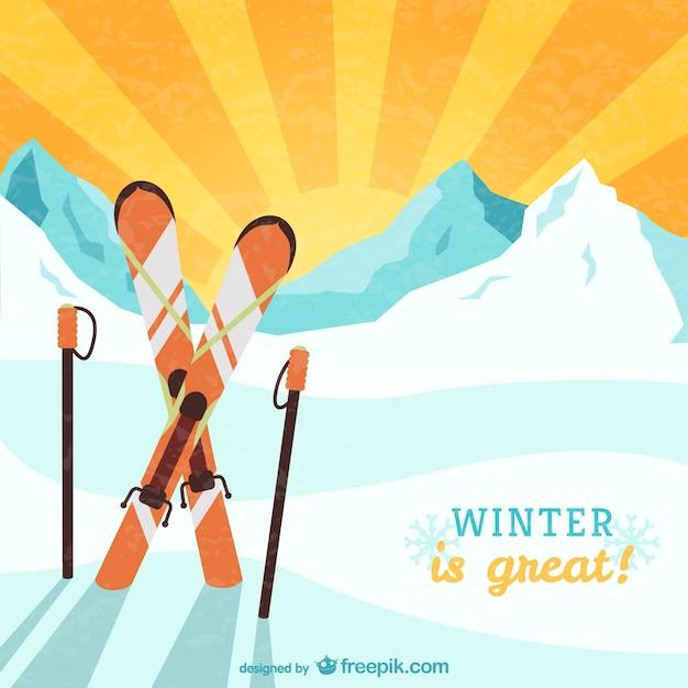 Winter is great vector Free Vector