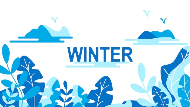 Winter leaves background Premium Vector