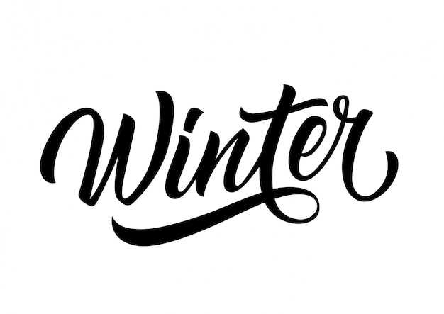 Winter lettering Free Vector