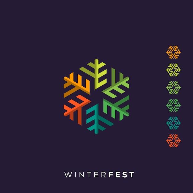 Winter logo Premium Vector