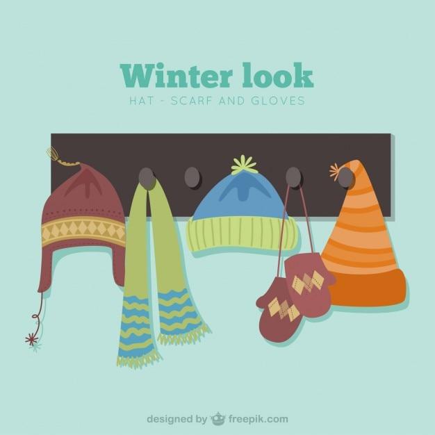 Winter look Free Vector