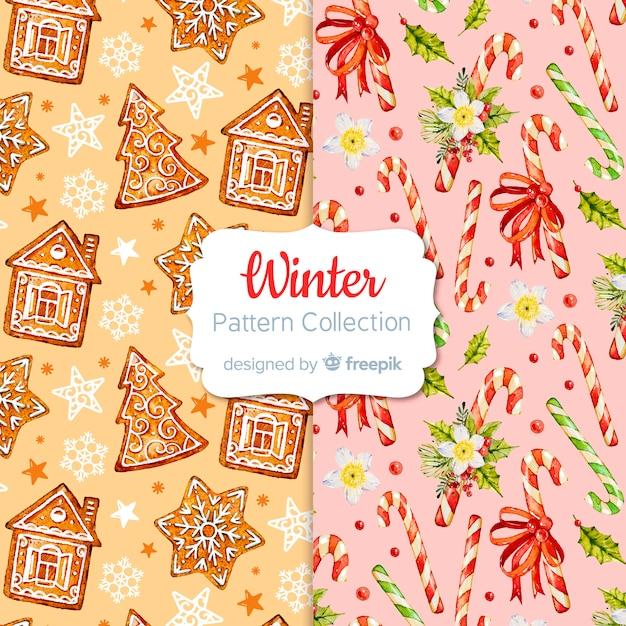 冬のパターンコレクション Premiumベクター