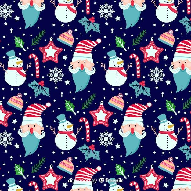 Winter pattern Free Vector