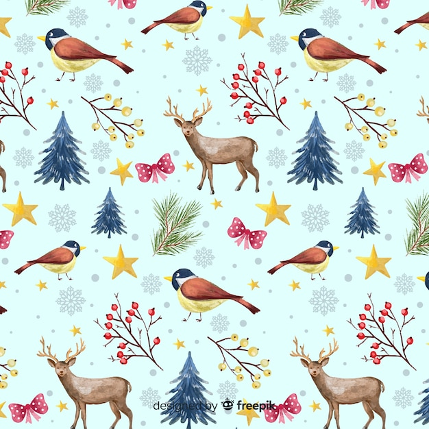 Winter pattern Free Vector