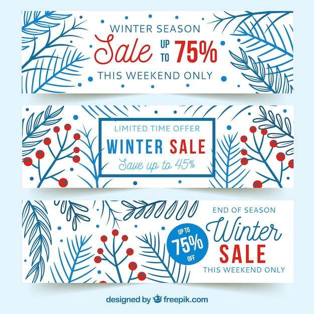 Winter Sale Banners Fashion Exhibition Banners