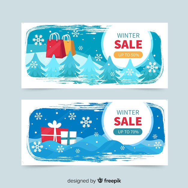 Winter Sale Banners Rose Gold Banners