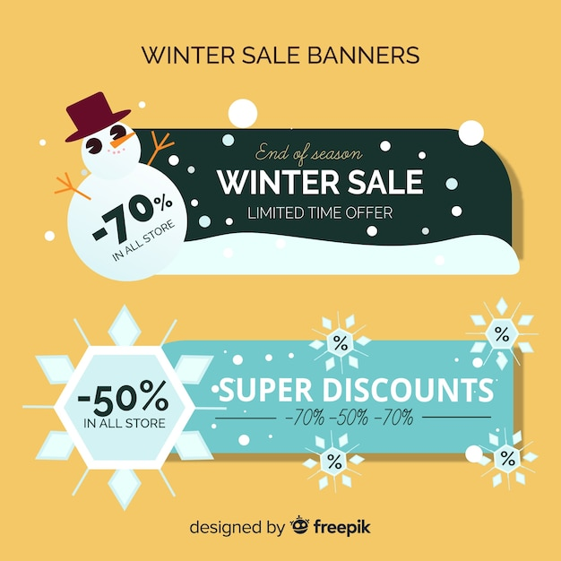 Winter Sale Banners 510x126px Banners