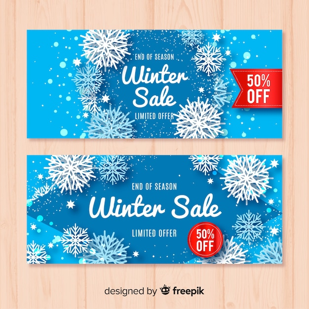 Winter Sale Banners Beauty Fashion Banners