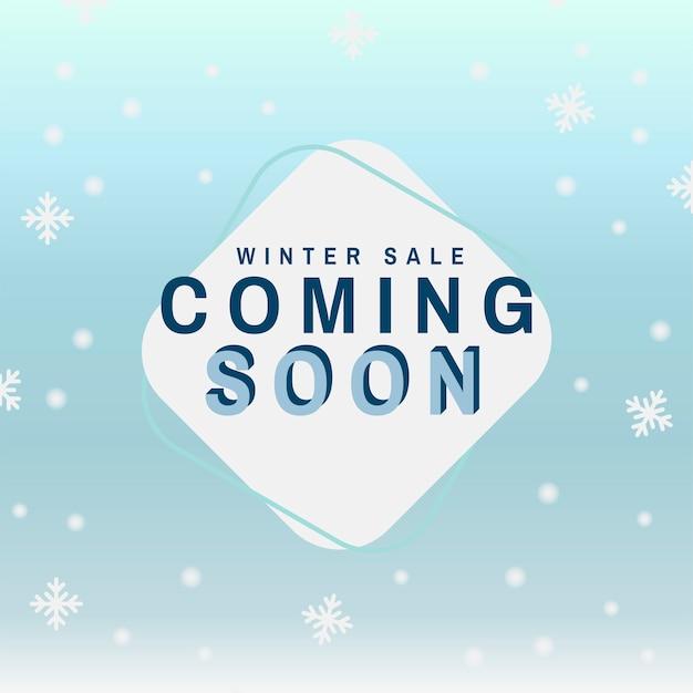 Winter sale coming soon vector Free Vector