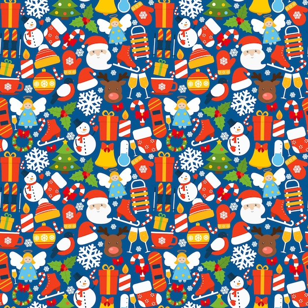Winter seamless pattern Free Vector