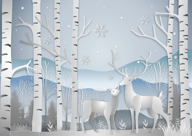 Winter season Premium Vector