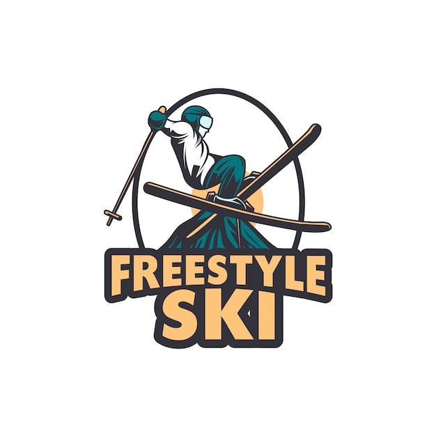 Winter skiing snowboard ski goggle glasses illustration Premium Vector