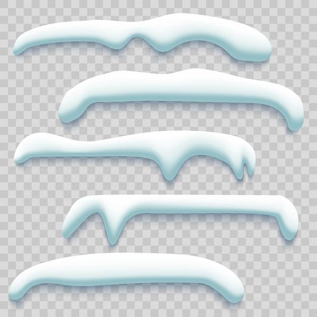 冬のスノーキャップセット Premiumベクター
