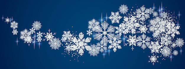 Winter snowy background Premium Vector